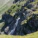 Felsriegel zum Wysse Bode. Auf dem Weg kurze und gut gesicherte Stelle T3.