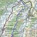 Routenverlauf Teil 1<br /><br />Quelle: Swiss Map online