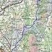 Routenverlauf Teil 2<br /><br />Quelle: Swiss Map online