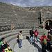 Das kleine überdachte Theater (theatrum tectum) von Pompeii bot Platz für 1000 bis 1500 Personen. Der Bühnenraum bildet einen Halbkreis.