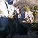 Via di discesa dal Sasso Grande poco prima di raggiungere la selletta presso la quale le vie si biforcano
