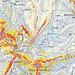 Karte mit GPS Track und eingefärbter Hangneigung