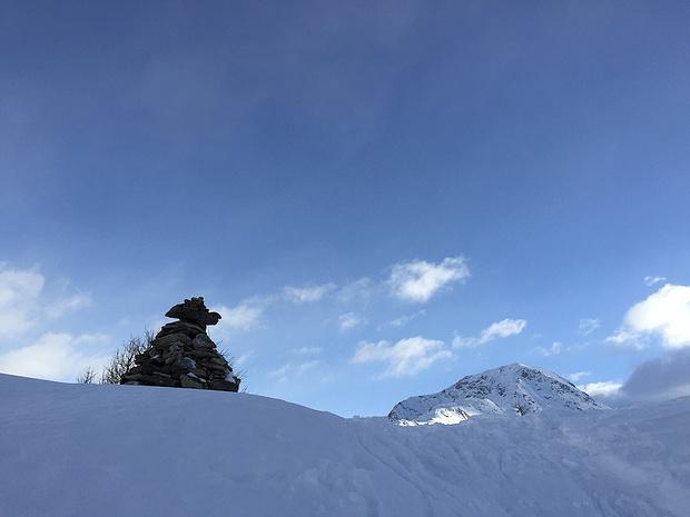 Kurz vor dem Steinmannli unter dem Gipfel