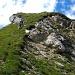 die erste Abstiegsstelle zum Gemsgrat ist grasig, und sehr steil.