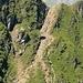steile Geröllrunse vor L. Podragel