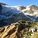 Beim Aufstieg, Blick zum Steigletscher.