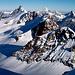 una flia di 4000,in primo piano il Polluce visto dal Lyskamm,poi Roccia Nera,Breithorn,Matterhorn,sulla dx Dent Blanche,Gran Cornier e Ober Gabelhorn