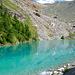 il bellissimo lago Blu,che si incontra salendo ai Rifugi Mezzalama e Guide d'Ayas