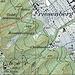 Der Ziletenpfad ist die Direttissima vom Friesenberg auf den Grat. Unten ist via das Ziletenweidli (kleine Waldwiese) auf einem erkennbaren Pfad ein Seitenzugang möglich (gepunktete Linie). Oben kann die Trampelpfadbegehung via die Schwarze Hütte verlängert werden (auch gepunktet).
