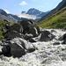 Der Jambach führt infolge des Abschmelzens des Jamferners viel Wasser