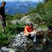 Erfrischung an der oberen Laghetti Alp
