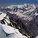 Blick vom Gipfel des Pik Petrovsky auf den herrlichen Aufstiegsgrat.