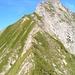 Après le milieu de la Gemsgrat vue en arrière vers l'Ochsen.