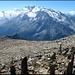 """Gipfel Mattwaldhorn (praktisch """"Art am Berg"""")."""