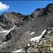 Blick zurück zu den zwei Gipfeln (Mattwaldhorn links).