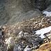 Tratto di pietraia sotto la cascata del Ghiacciaio Piccolo di Croslina
