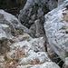 erste Kletterstelle im Abstieg