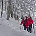 Frische Schneeverwehungen kurz unter dem Gratrücken