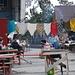 Markttreiben in Azau. Überall duftet es nach Schaschlik