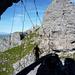 Hauptattraktion des Klettersteiges – die Brücke