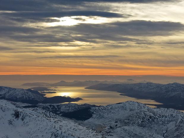 Sunset over the Scottish Sea