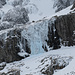 small climbers above the ice