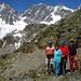 da sinistra: Alberto anni 75,Angela,Felice anni 78 e Peppino anni 79: fantastici!!!! sullo sfondo il Bernina