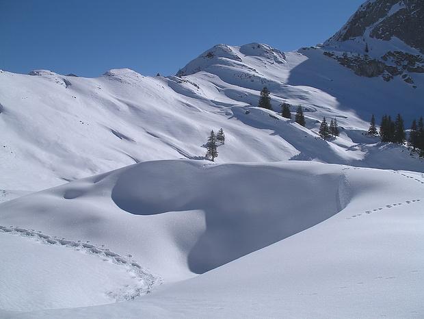 Schöne Schneeformen