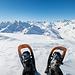 Kurz vor dem Gipfel des Rossbodenstocks. Ein Schneeschuh-Selfie :)