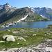 Europäische Wasserscheide Grimselpass mit Totensee