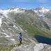 Schöner Aufstieg zum Nebengipfel 2733 m unter uns der Trübten-, Oberaar- und Grimselsee