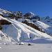 I pendii risaliti il giorno prima verso il monte della Neve
