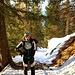 Auf 1600m stiegen wir auf die Ski um