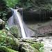 Der Wasserfall nahe der Ruine Wildenburg.