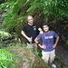 Io e Paolino,nel cuore della foresta pluviale,sentiero scivoloso e spesso viscido,mai esposto e pendenze morbide.