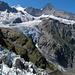 Kurz vor der Schreckhornhütte: Mönch und Eiger über Challi, Zäsenberg und Oberem Ischmeer