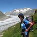 Hanne am Aletschgletscher
