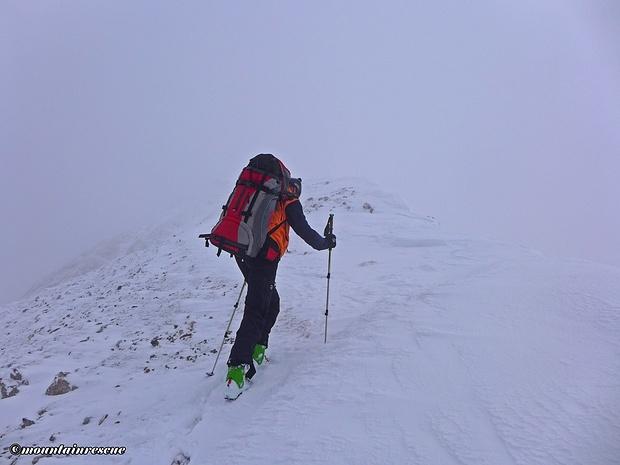 Schlussanstieg per pedes zum Gipfel