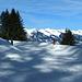 Bestens präparierte Winterwanderwege machen Schneeschuhe obsolet.