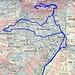 Routenverlauf  Quelle: Swiss Map online