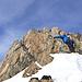 Einige kurze, exponierte Kletterstellen sind zu überwinden.