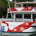 Kunst oder Kitsch? Ausflugsschiff an der Anlegestelle in Interlaken Ost