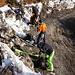 Der Forstweg wurde gut geräumt, für den Aufstieg hätte die Schneemenge aber ohnehin nicht mehr gereicht. Wir schnallen die Ski beim P. 953m an.