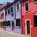 Häuserfassade in Burano