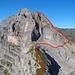 Routenverlauf vom Hoch Geissberg zum Rundstock
