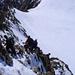 Der Abstieg vom Gross Grünhorn 4044m