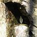 in una nicchia nella roccia