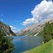 Sterrato iniziale sulla destra del lago di Livigno