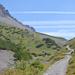 All' uscita del bosco sulla sinistra è visibile la catena che fa capo al Monte Cassa del Ferro