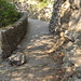 Der Uferweg nach Lugano, irgendwo hatte es auch ein Schild mit einer Steinschlagwarnung drauf